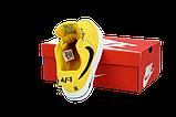 Чоловічі кросівки Nike Air Force (Premium-lux) жовті, фото 4