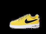 Чоловічі кросівки Nike Air Force (Premium-lux) жовті, фото 2