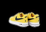Чоловічі кросівки Nike Air Force (Premium-lux) жовті, фото 3