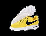 Чоловічі кросівки Nike Air Force (Premium-lux) жовті, фото 6
