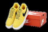 Чоловічі кросівки Nike Air Force (Premium-lux) жовті, фото 7