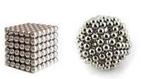 Неокуб серебро 216 шариков, Neocube, магнитные шарики неокуб, магнитная головоломка NeoCube, магнитн
