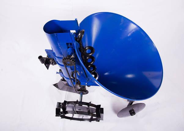 Картофелесажалка мотоблочная 20 л (синяя), фото 2