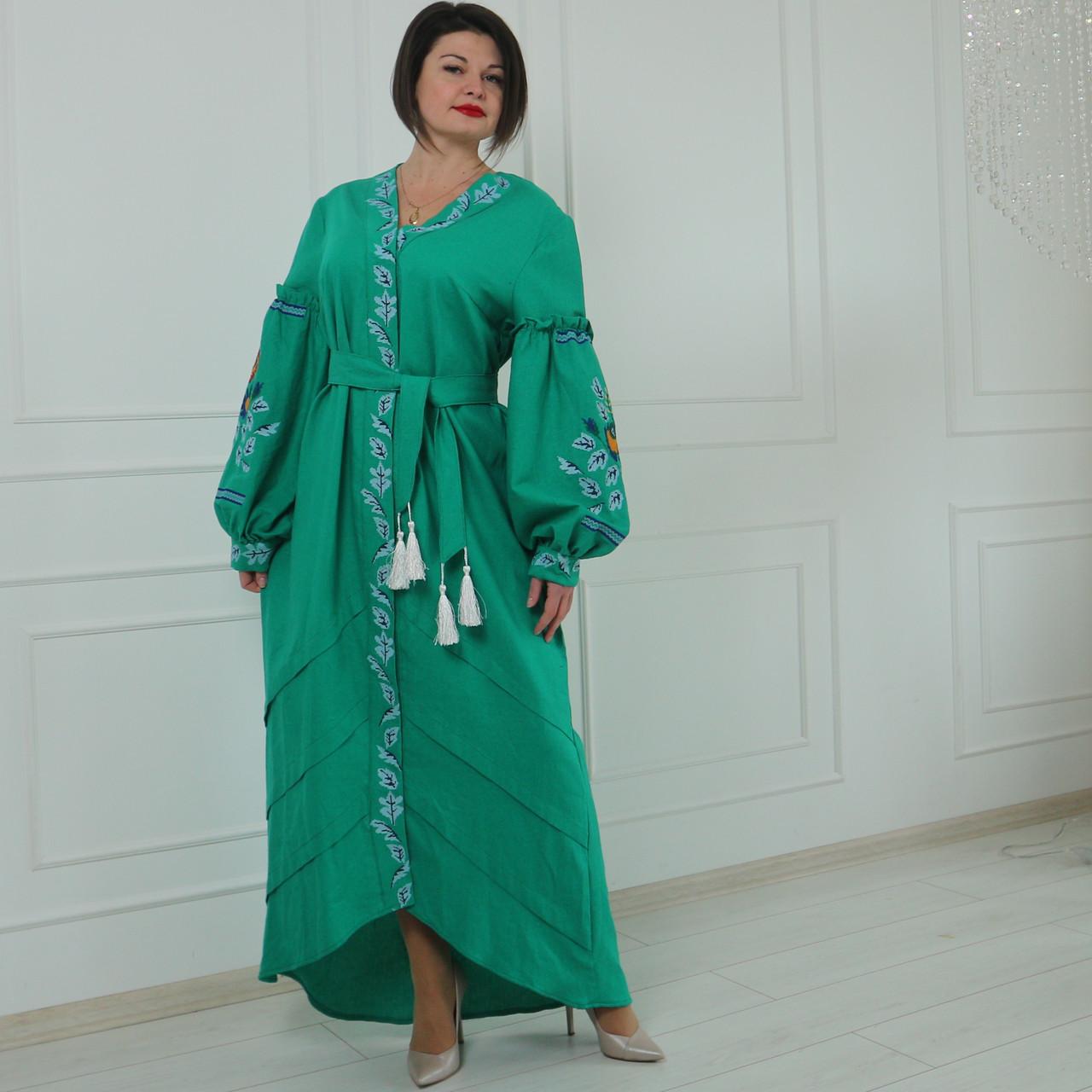"""Женское вышитое платье """"Фелисия"""" PJ-0030"""