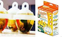 Формы для варки яиц без скорлупы Eggies (6 шт. + сепаратор)