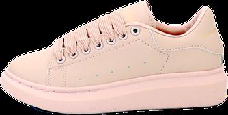 Женские кроссовки Alexander McQueen (Premium-lux) бежевые