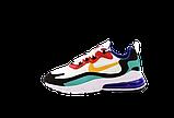 Мужские кроссовки Nike Air Max 270 React (Premium-lux) разноцветные, фото 2