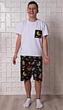 Мужской домашний костюм, мужская пижама (футболка и шорты) Ленивцы, размер L, фото 2
