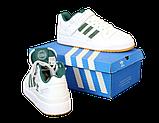 Мужские кроссовки adidas Forum (адидас форум) белые, фото 4