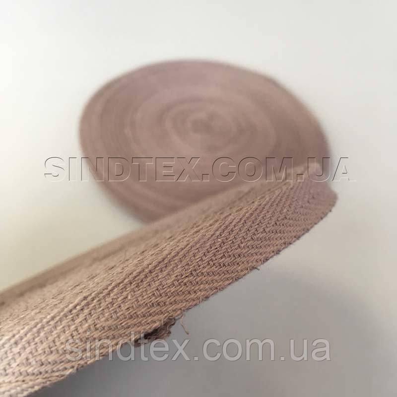 Кофейная киперная лента 1 см (киперная тесьма 10мм) (6-БК-008)