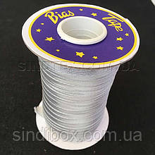 Косая бейка парча, серебро (657-Л-0032)
