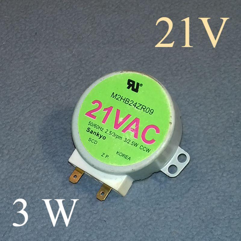 """Двигатель тарелки Sankyo """"M2HB24ZR09"""" (21V; 3/2,5 W) для микроволновки"""