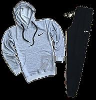 Трикотажный костюм Nike (найк) серый с черным