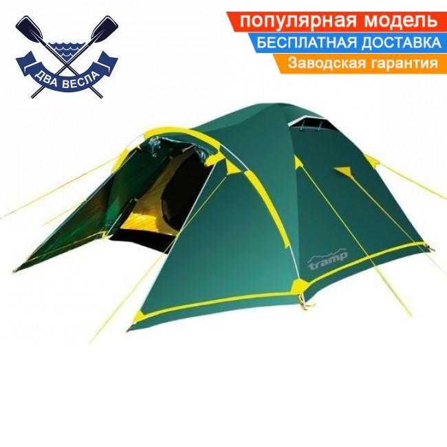 Трехсезонная палатка Stalker 3 (V2) трехместная 370х220х130 см, 4,6 кг, 2 входа