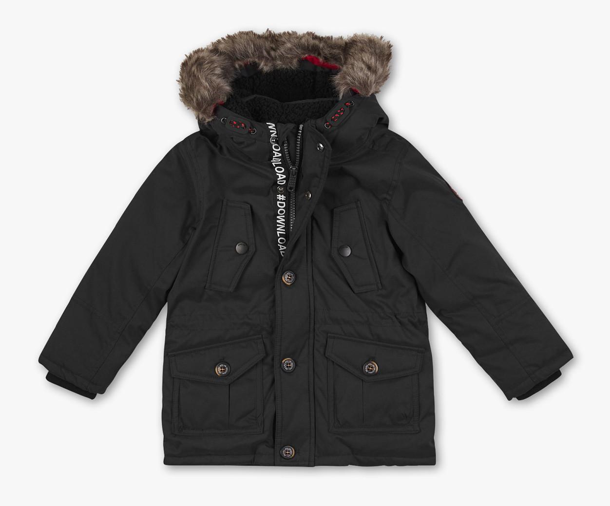 Теплый зимний пуховик с опушкой на мальчика C&A Германия Размер 104, 110, 122, 140