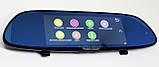 """Автомобильный регистратор-зеркало DVR H10 Full HD 7"""" сенсорный экран + камера заднего вида, фото 4"""