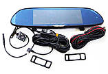 """Автомобильный регистратор-зеркало DVR H10 Full HD 7"""" сенсорный экран + камера заднего вида, фото 7"""