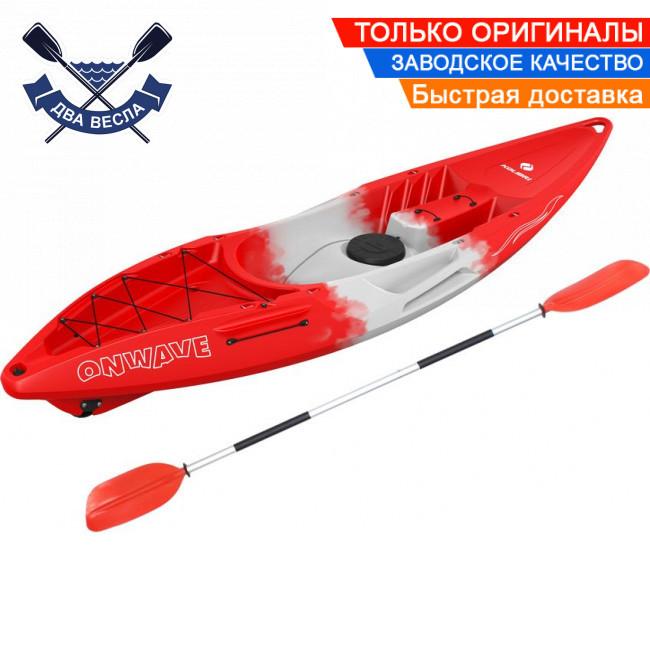 Корпусний каяк Kolibri OnWave-300 одномісний, HDPE-RM, червоно-білий