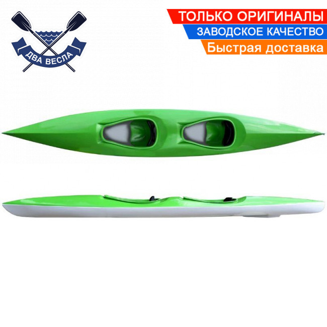 Байдарка Пиранья-490 Укркомпозит двухместная (пластиковый каяк с закрытым кокпитом)