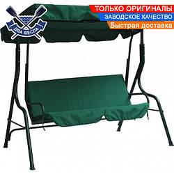 Садовые качели Relax Green 180х110х147 см до 150 кг регулировка наклона козырька облегченные вес 20,5 кг