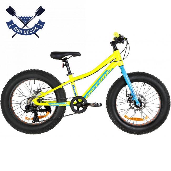 """Велосипед-фэтбайк 20"""" Optimabikes PALADIN DD 2019 (желто-синий подростковый)"""