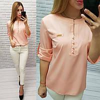 Блузка женская арт 830, цвет персик, фото 1