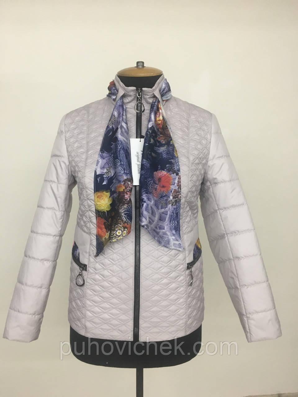 Модная женская куртка демисезонная размеры 50-60
