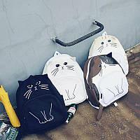 Молодежный рюкзак с уникальным принтом кота