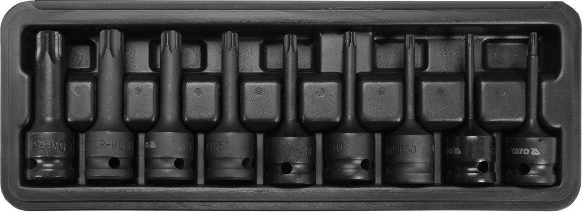Набор отверточных ударных насадок Torx 9 шт YATO YT-10654
