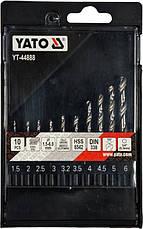 Набор сверл по металлу HSS 1,5-6,0 мм YATO YT-44888, фото 2