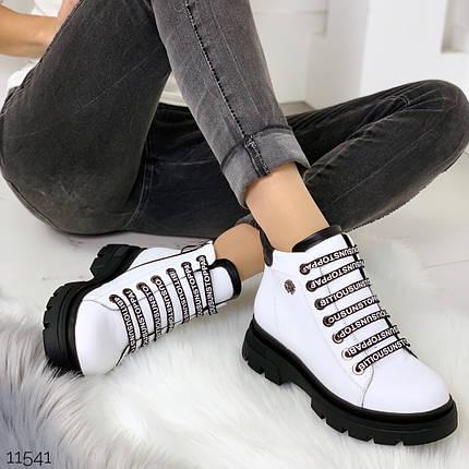 Ботинки белого цвета, фото 2