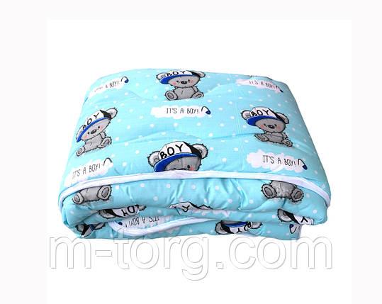 Детское одеяло холлофайбер 110/140 см, ткань хлопок 100%, фото 2