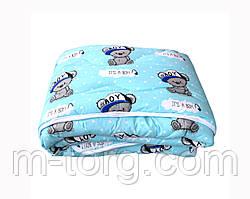 Детское одеяло холлофайбер 110/140 см, ткань хлопок 100%