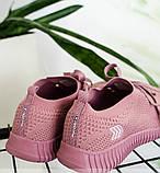 Кроссовки женские лиловая-сетка, фото 2