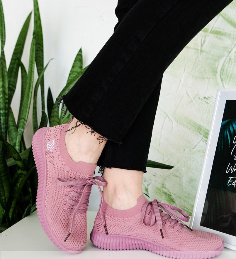Кроссовки женские лиловая-сетка