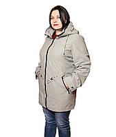Куртка женская батал из дышащей ткани котон