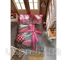 Комплект постільної білизни Cotton box Ранфорс Floral Seri Lovebox Kirmizi