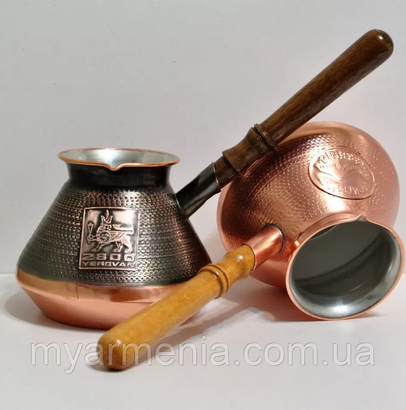 Армянская Джезва из меди  на 3 чашек