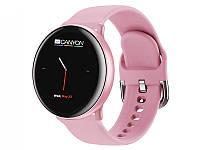 """Умные часы Canyon Marzipan CNS-SW75 Pink; 1.22"""" (240х240) сенсорный / Huntersun HS6220D / ОЗУ 1 МБ / 64 МБ встроенной / Bluetooth 4.0 / 41 х 41 х 11"""