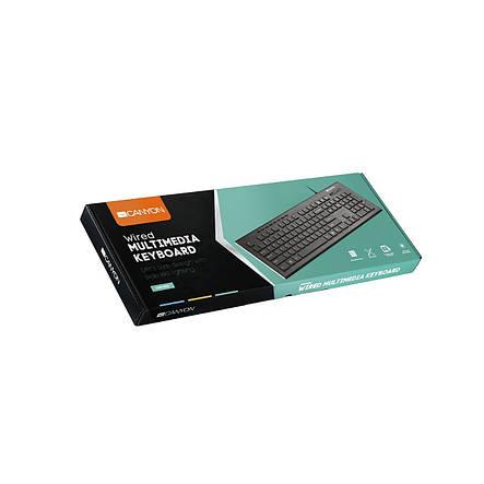 Клавиатура Canyon CNS-HKB2-RU Black USB, фото 2