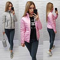 М555 Двусторонняя короткая куртка весна-осень, 2в1 розовый/серый