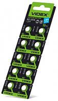 Батарейка  часовая Videx  AG 2 (LR756)  blister card 10 pc 100 шт/уп