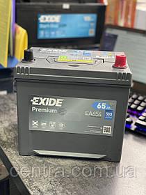 Автомобильный аккумулятор EXIDE PREMIUM EA654 65Ah JR+ Asia