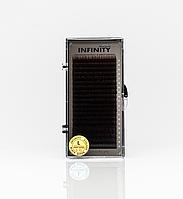 Вії INFINITY Ombre (коричневі кінчики) L 0.10 Mix 8-13, фото 1