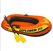 Двухместная надувная лодка Intex 58331 (185 x 94 x 41 см) Explorer 200 с веслами и насосом