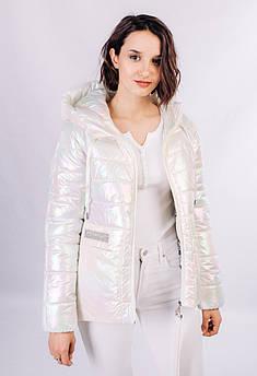 Куртка женская перламутровая Дайкири-1 с капюшоном