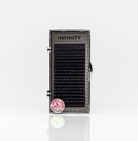 Вії INFINITY Ombre (білі кінчики) L 0.10 Mix 8-13, фото 1