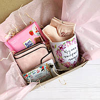 Подарок маме на 8 марта Подарунок для мами на 8 березня с кошельком Baellerry и шоколадкой Ritter Sport