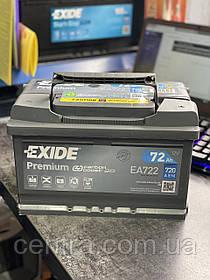 Автомобильный аккумулятор EXIDE PREMIUM EA722 72Ah R+