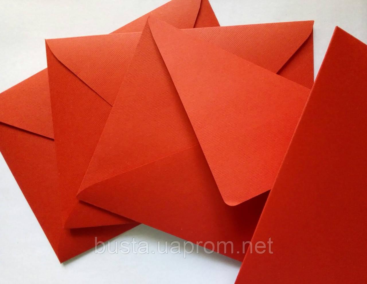 Конверт С6 червоний 140гр вельвет